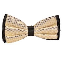 Tiekart men gold polka dot  knotted double bow tie