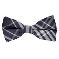 Tiekart men blue checked knotted double bow tie