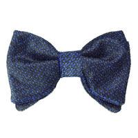 Tiekart men blue velvet bow tie