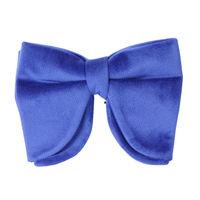 blue velvet plain bow ties partywear for men