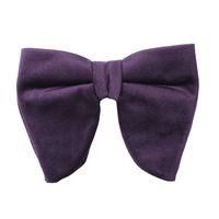 purple velvet plain bow ties partywear for men