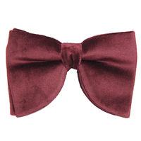 Maroon Plain Velvet Tuxedo Bow Tie for Men