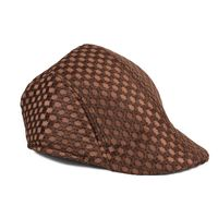 Tiekart men brown winter golf cap
