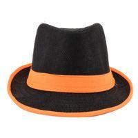 Tiekart men black & orange hat
