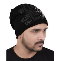 Tiekart men black beanie winter cap