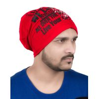 Tiekart men red beanie winter cap