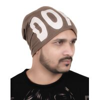 Tiekart men brown beanie winter cap