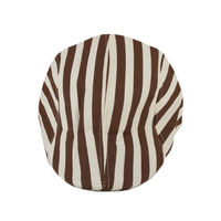 Tiekart men brown striped winter golf cap