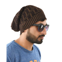 Tiekart men brown woollen winter caps