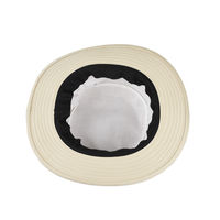 Tiekart men cream plain solids  floppy hat