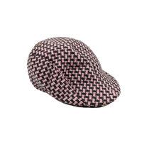 Pink Houndstooth Golf Cap for Men