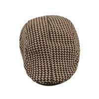 Brown Houndstooth Golf Cap for Men