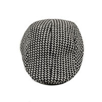Black and White Houndstooth Golf Cap for Men