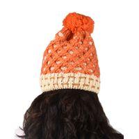 Tiekart women orange  wollen cap