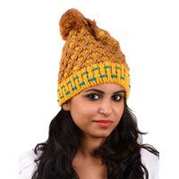 Tiekart women multi woollen cap