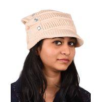 Tiekart women pink woollen cap