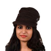 Tiekart women brown  wollen cap