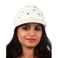 Tiekart women white woollen cap