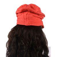 Tiekart women coral woollen cap