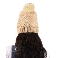 Tiekart women beige floral wollen cap