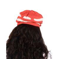 Tiekart women coral  wollen cap