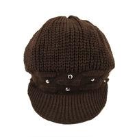 Tiekart women brown woollen cap
