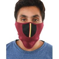 Tiekart men red plain solids  bikers mask