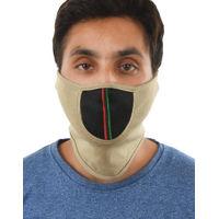 Tiekart men brown plain solids  bikers mask