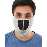 Tiekart men grey plain solids  bikers mask