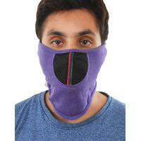 Tiekart men purple plain solids  bikers mask
