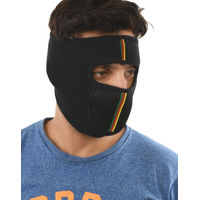 Tiekart men black plain solids  bikers mask