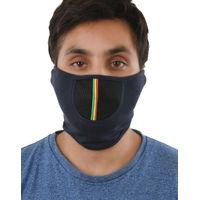 Tiekart men blue plain solids  bikers mask