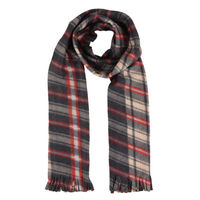 Grey Checkered Flannel Warm Winter Muffler Scarf Stole for Men and Women