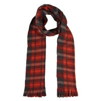 Red Checkered Flannel Warm Winter Muffler Scarf Stole for Men and Women