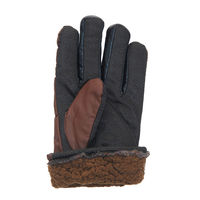 ... Brown Windproof Riding Biking Winter Full Finger Warm Winter Gloves With Fur Lining Inside for Men