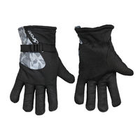 Sale Black Windproof Riding Biking Winter Full Finger Warm Winter Gloves With Fur Lining Inside for Men ...