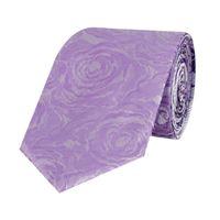 Tiekart men violet floral  reversible tie