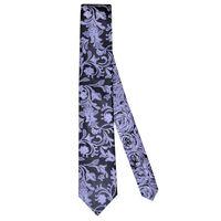 Tiekart men monochrome floral  reversible tie