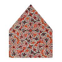 Tiekart men multi floral printed silk pocket square