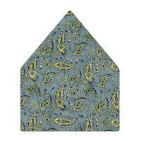 Tiekart men blue paisley printed silk pocket square