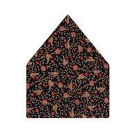 Tiekart men black paisely silk pocket square