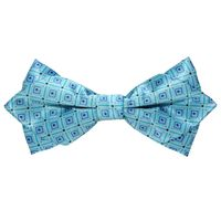 Tiekart men blue knotted double diamond bow tie