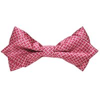 Tiekart men pink   knotted double diamond bow tie