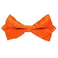 Tiekart men orange floral knotted double bow tie