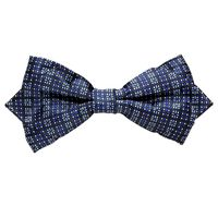 Tiekart men blue floral  knotted double bow tie