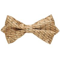 Tiekart men brown knotted double bow tie