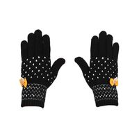 Tiekart women black  woollen gloves