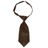 Tiekart women black & orange polka dot tie