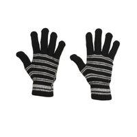 Tiekart men monochrome striped woollen gloves