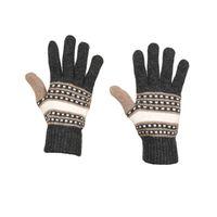 Tiekart men grey woollen gloves